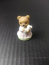 "Homco ""Girl w/Puppy"" Bear Figurine #1462"