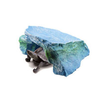 Reptile Tortoise Rock Hide Cave Habitat Lizard Snake Turtle Resin Cave Decor