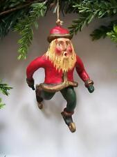 1993 Bill Jauquet Folk Americana CHRISTMAS Santa on Ice Skates Ornament