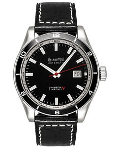 EBERHARD CHAMPION V TIME & DATE AUTOMATIC MEN'S WATCH 41031.2L, MSRP: $2,650