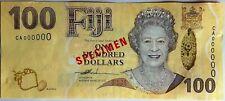 Fiji, 100 dollars, Specimen, ND (2007), QEII, Pick 114s, UNC