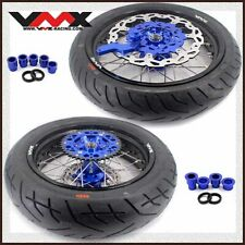 VMX 3.5/4.25 Supermoto Wheel Set Tire Fit YAMAHA WR250F 2001-2018 WR450F 03-18