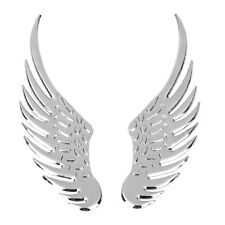 Auto 3D Wings Emblem Badge Decals Chrome Metal Car Truck Sticker Silver New