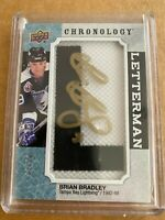 2019-20 UD CHRONOLOGY BRIAN BRADLEY GOLD AUTO 1 OF 20 LETTERMAN TAMPA BAY
