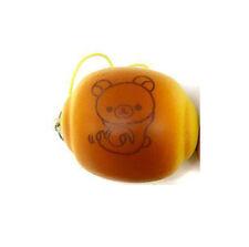 NEW Fans Rilakkuma Soft Bread Bun Squishy Keychain Mascot 6cm SS9358 US Seller