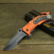 "Tac Force 8"" EMT Spring Assisted Open Tactical Rescue Emergency Folding Knife"