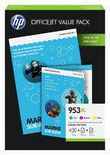 3x ORIGINALE HP 953 XL INCHIOSTRO CARTUCCE Officejet Pro 8716 8720 8725 8730 8740 Set