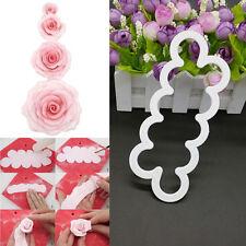 3D Cake Rose Petal Flower Cutter Mold Fondant Icing Decorating Mould Sugarcraft