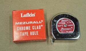 LUFKIN USA ~ MEZURALL Chrome Clad Tape Rule ~ C9210 ~ 10 FT 1/2 in ~ NOS