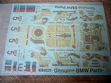 TAMIYA DECALS 1/24 BMW 635CSI Gr.A RACING