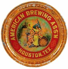 1895 Pre Prohibition American Brewing Ass'N Tin Litho Advertising Beer Tray