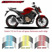 For Honda CB500F 17 Inch Motorcycle Wheel Sticker Decal Reflective
