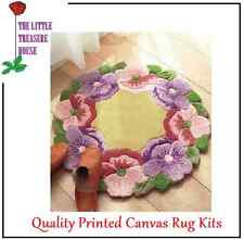 Ring Of Flowers Latch Hook Rug Kit - Rug Making - Everything included