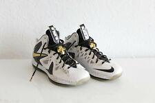Nike LeBron X P.S. Elite+ / White & Gold UK10.5
