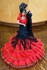 Vintage Marin Chiclana?  Spanish Flamenco Dancer Dolls Made in Spain Red Black