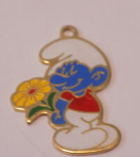 "Vintage Smurf Charm, 1980 Peyo  approx. 1"" tall (86)"
