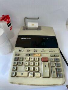 Sharp EL-2192RII Printing Calculator Adding Machine Tested Working + Extra Paper
