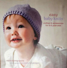 EASY BABY KNITS CLOTHES ACCESSORIES 0-3 YEAR OLDS BEGINNER KNITTING CRAFTS