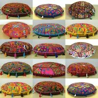 """Indian 32"""" Handmade Vintage Floor Cushion Cover Pillow Patchwork Home Decorate"""