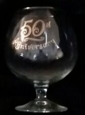 50th Anniversary glass goblet