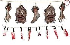 Halloween Decoration Garland Zombie Bloody Weapon Scary Prop Accessory