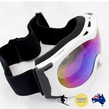 WHITE Ski Snow Snowmobile Snowboard Kid Child Boy Girl GOGGLES EYE UV Protection