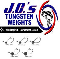 JCs Tungsten Jighead Wacky Weedless 1/4oz Black 2/0 Gamakatsu EWG Hook