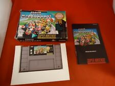Super Mario Kart (Super Nintendo, 1992) SNES COMPLETE w/ Box manual game WORKS T