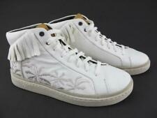 UGG Australia Mens 10 Cali Sneakers High Fringe Palms White Fashion Club Shoes