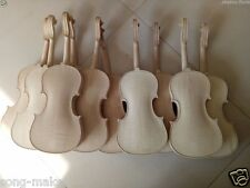 5pcs 4/4 violin unfinished Violin Flame maple back Russian spruce top