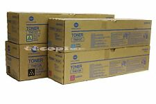 TN612 CMYK Set ,Lot of 4 Genuine Toner For Konica Minolta bizhub C6501 C5501