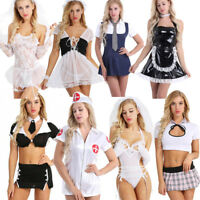 Plus/Sexy Women Secretary Uniform Naughty School Girl Outfit Fancy Dress Costume