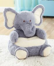 TODDLER KIDS PLUSH ANIMAL SHAPED ULTRA SOFT ELEPHANT NURSERY CHAIR FURNITURE