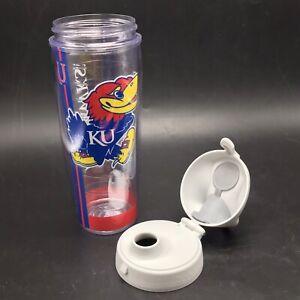Tervis Kansas University KU Jayhawks Rock Chalk Water Bottle Flip Top 24ox USA