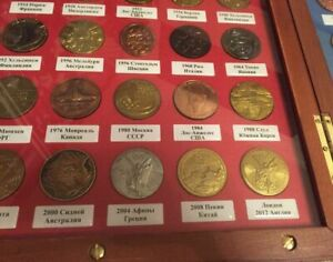 Olympic Participant Medals Replica Set Olympiad History 1896 - 2012 in box Rare