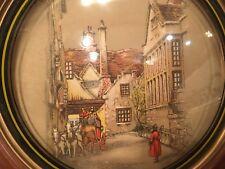 Vintage Peter Watson Studio Convex Bubble Glass Print circa 1940's ?   MUST SEE