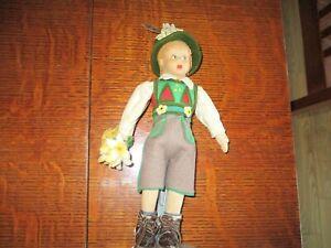 """9"""" Antique Lenci Mascotte Hiker Doll"""