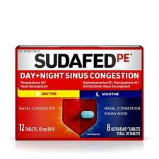 Sudafed PE Day and Night Sinus Pressure & Congestion Tablets 20 ct each