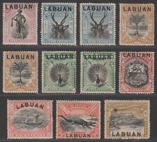 North Borneo Labuan 1897-1901 Queen Victoria Overprint Set to 18c Mint