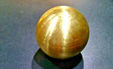 "1 1/4"" RAW BRASS TURNED ROUND BALL KNOB FINIAL TAP 1/4""ip"
