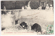 CPA  VIETNAM INDOCHINE ASIE -  ZOO FOSSE OURS BEAR SAIGON COCHINCHINE 1912 ~A65
