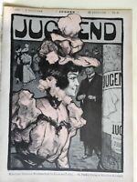 Fashionable Woman City Advertising Jugend Magazine 1898  Jugenstil Art Nouveau