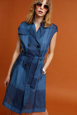 Anthropologie Checkered Trench NWT new size LP LARGE PETITE