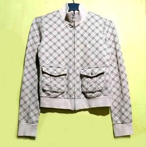 Burberry Plaid Check Classic Light Pink Jacket