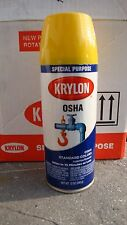 6 cans Pk Krylon OSHA 12 Oz Safety Yellow Gloss Spray Paint new