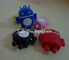 10 pcs android robot shaped mp3 player with Tf card port