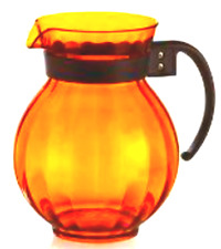 Golden Amber Plastic Pitcher With Black Handle - 90 Ounce - Free Shipping