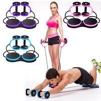 Gym Abdominal Wheel Core Double AB Roller Exercise Equipment,Revoflex Extreme