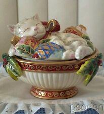 Fitz & Floyd Kristmas Kitty Lidded Box