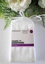 "Room Essentials Microfiber Standard Size Pillowcases Set of 2 White 20x30"""